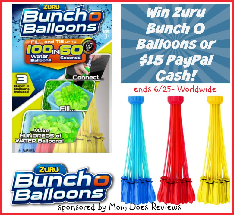 win zuru bunch o water balloons or 15 paypal ww 6 25