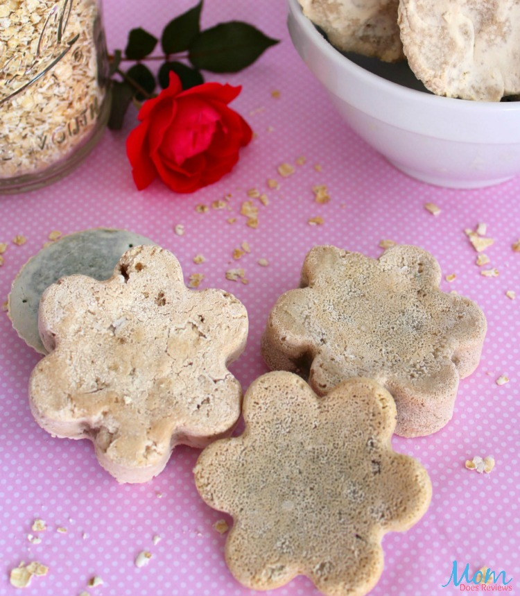 Lavender and Oatmeal Stress Relief Bath Bombs