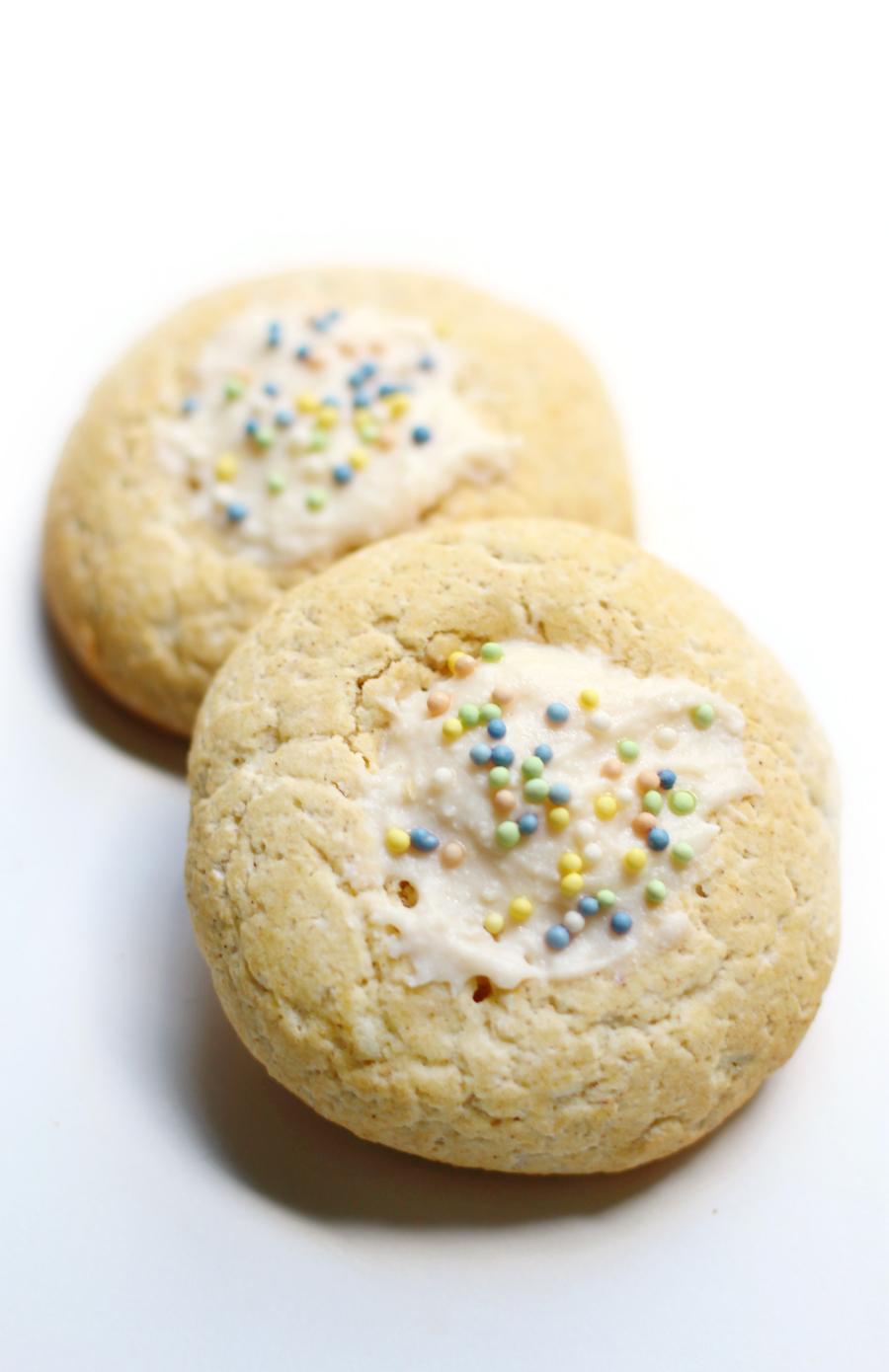 Gluten Free Funfettini Thumbprint Cookies from Strength & Sunshine