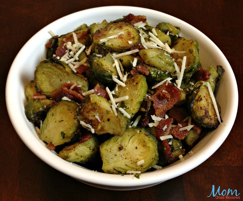 Roasted Brussel Sprouts with Bacon #Recipe -
