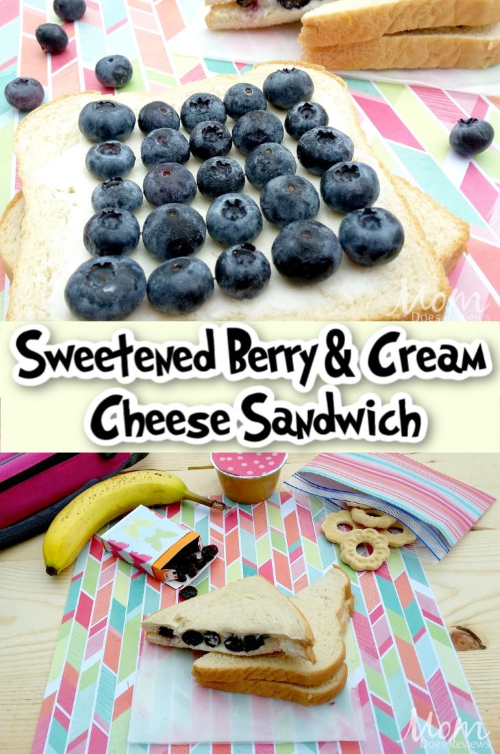 Sweetened Berry & Cream Cheese Sandwich
