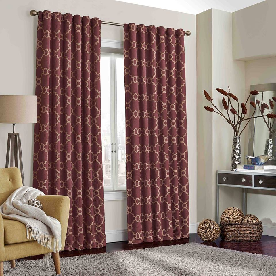eclipse maroon curtains