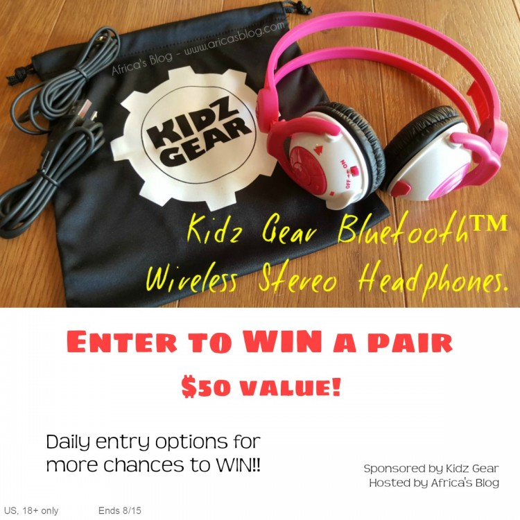 Kidz Gear Headphones Giveaway >> Win A Pair Of Kidz Gear Wireless Headphones Us 8 15