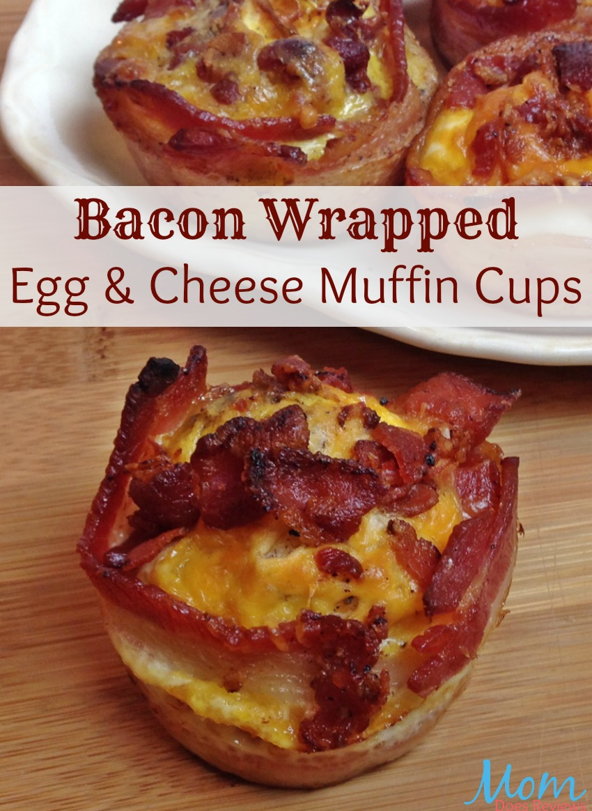 Bacon Wrapped Egg and Cheese Muffin Cups #Recipe