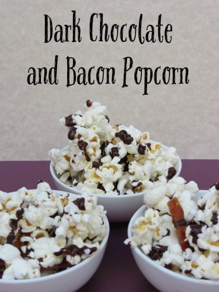 Dark Chocolate & Bacon Popcorn Recipe from Practical Mommy