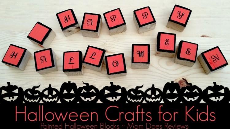 Halloween Crafts for Kids: Painted Halloween Blocks