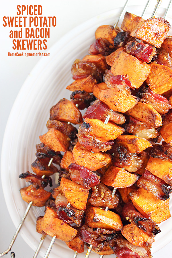 Spiced Sweet Potato and Bacon Skewers Recipe ~ Home Cooking Memories