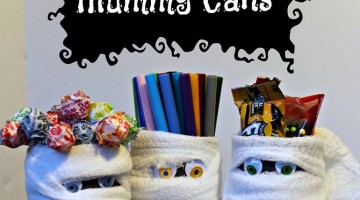 #12Daysof Halloween #crafts #recipes {Day 9} Halloween Mummy Cans