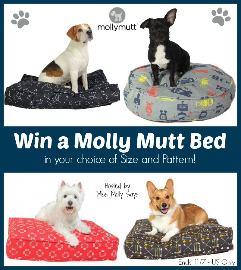 win molly mutt dog bed - choice of size & pattern us 11/7 -