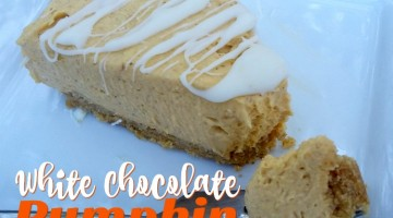 #12Daysof Thanksgiving #Recipes {Day 8}: White Chocolate Pumpkin Cheesecake