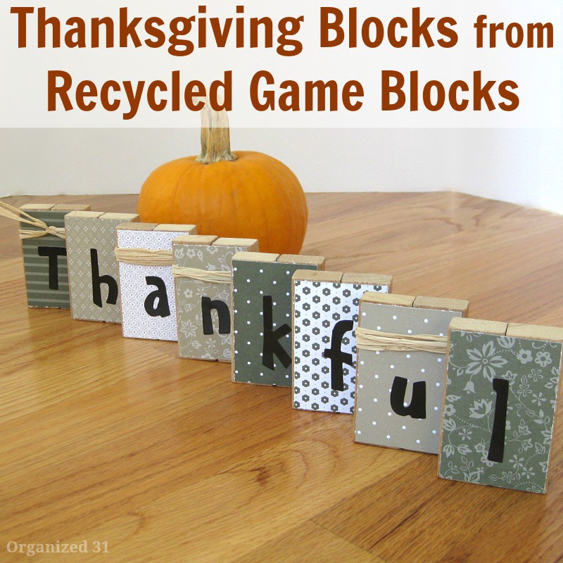 Thankful Thanksgiving Blocks by Organized 31