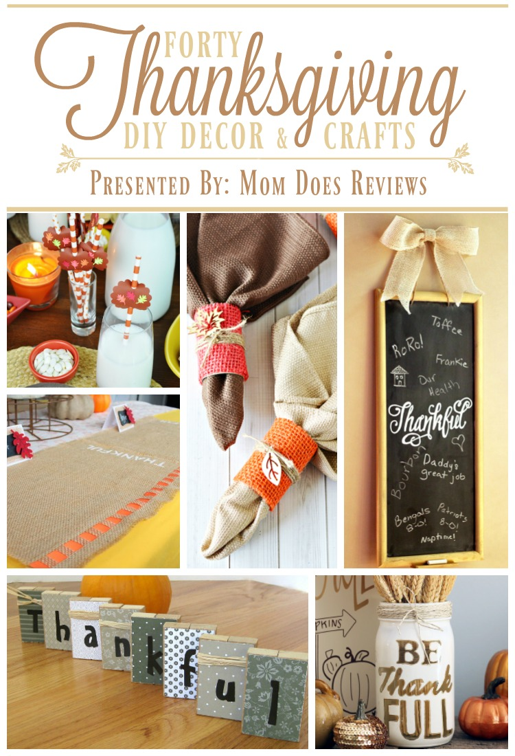 40 Thanksgiving DIY Decor and Crafts