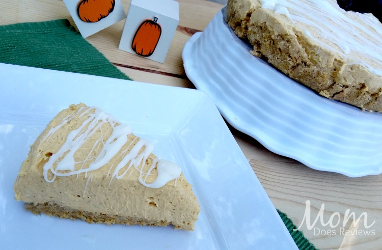 White Chocolate Pumpkin Cheesecake Recipe #MomDoesReviews