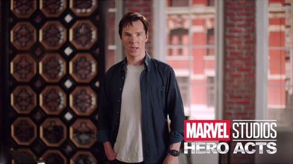 "Benedict Cumberbatch & Marvel Studios Invite Fans to Help Launch ""Hero Acts"" & Raise Funds for Save the Children #DoctorStrange #heroacts"