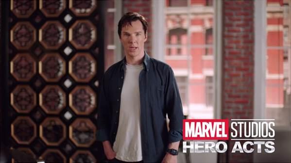 "Benedict Cumberbatch & Marvel Studios Invite Fans to Help Launch ""Hero Acts"" & Raise Funds for Save the Children #DoctorStrange #heroacts"