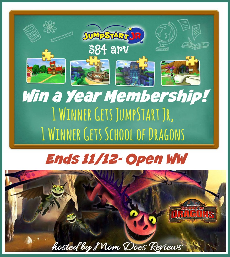 Enter the JumpStart Games Giveaway. Ends 11/12