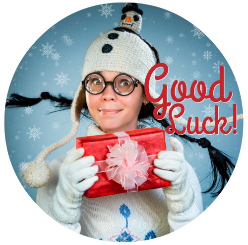Good Luck Christmas Button