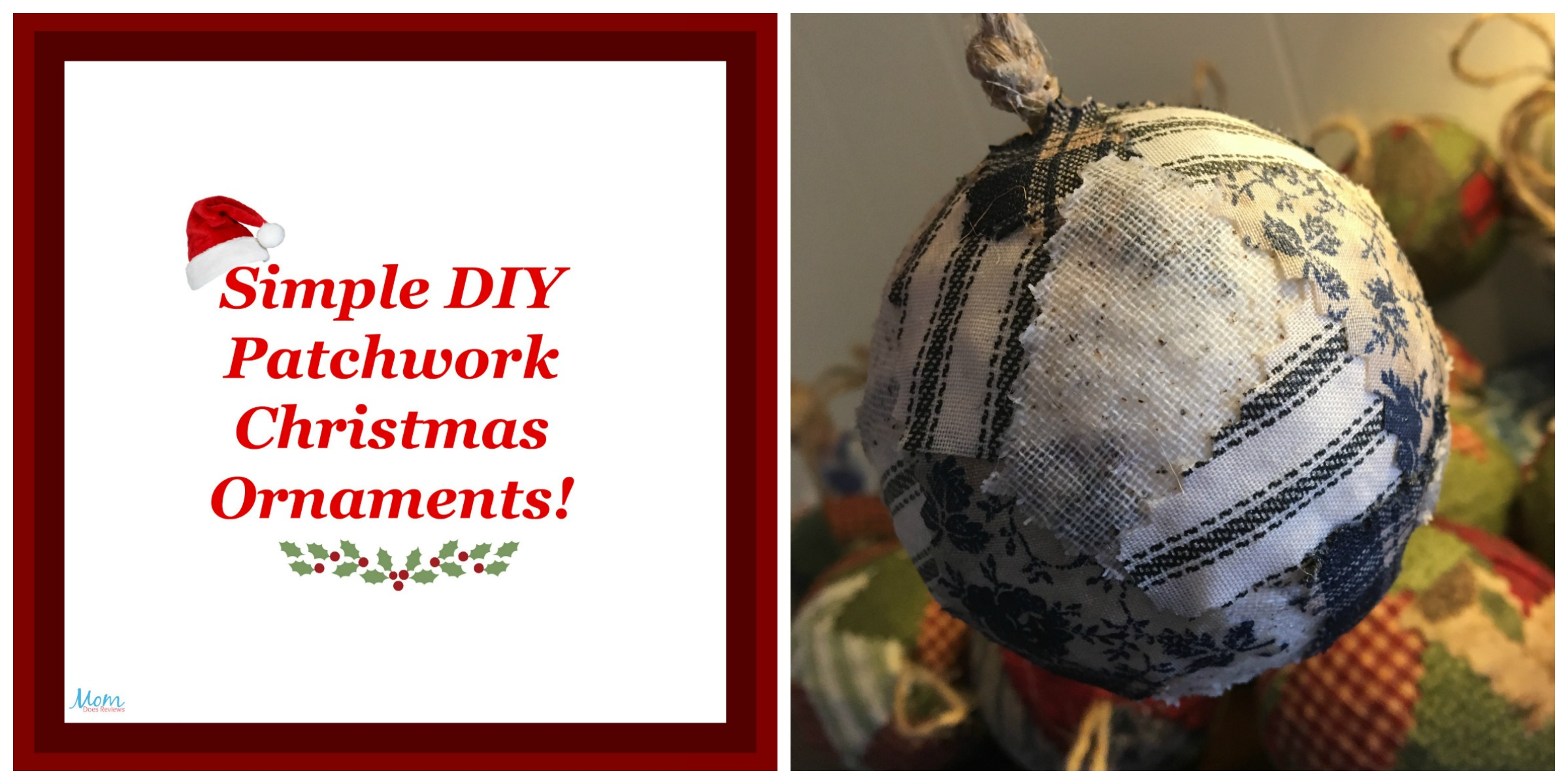 Simple Patchwork Christmas Ornaments Crafts