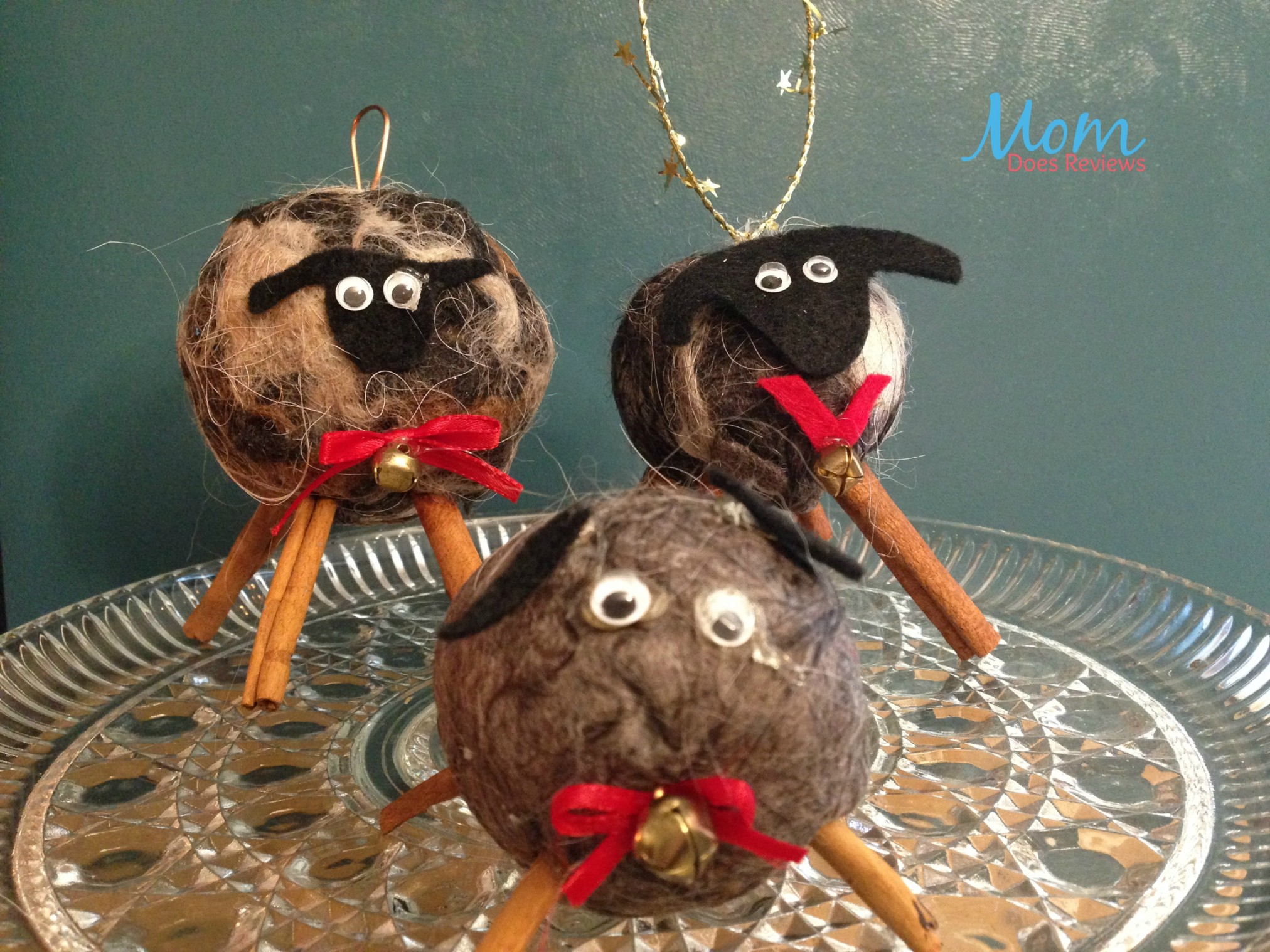 Diy wooly sheep and wild owl from alpaca fiber crafts for Sheep christmas ornament craft