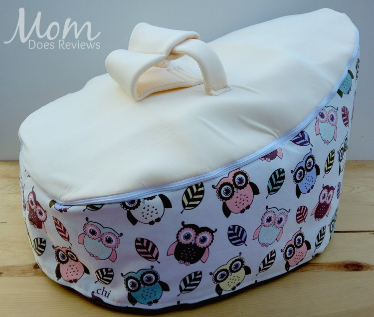 Chibebe Snuggle Pod Baby Bean Bag With Hoot Owl Print