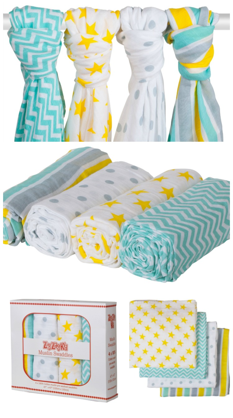 Zig Zag Kid Premium Muslin Swaddle Blankets ~ Mom Does Reviews
