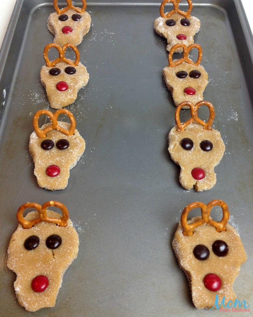 Reindeer Peanut Butter Cookies process