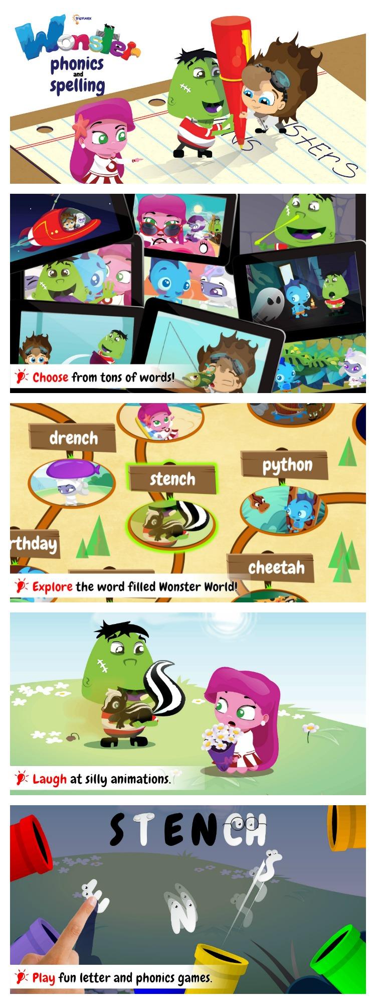 Wonster Phonics Spelling Edu-Play App for Kids