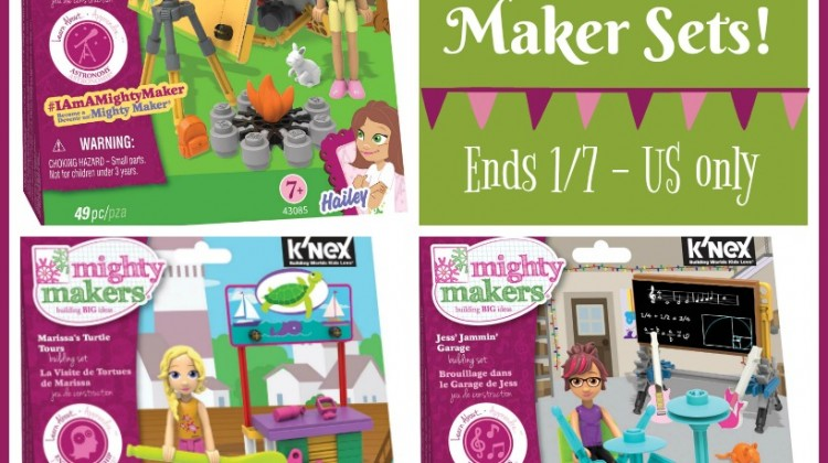 #Win 3 Mighty Makers Building Sets Ends 1/7 #IAmaMightyMaker