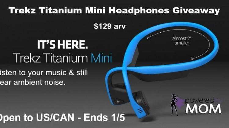 #Win a Pair of Trekz Titanium Mini Headphones #Giveaway Ends 1/5