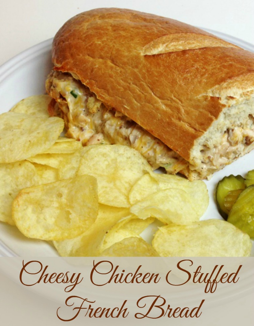 Cheesy Chicken Stuffed French Bread