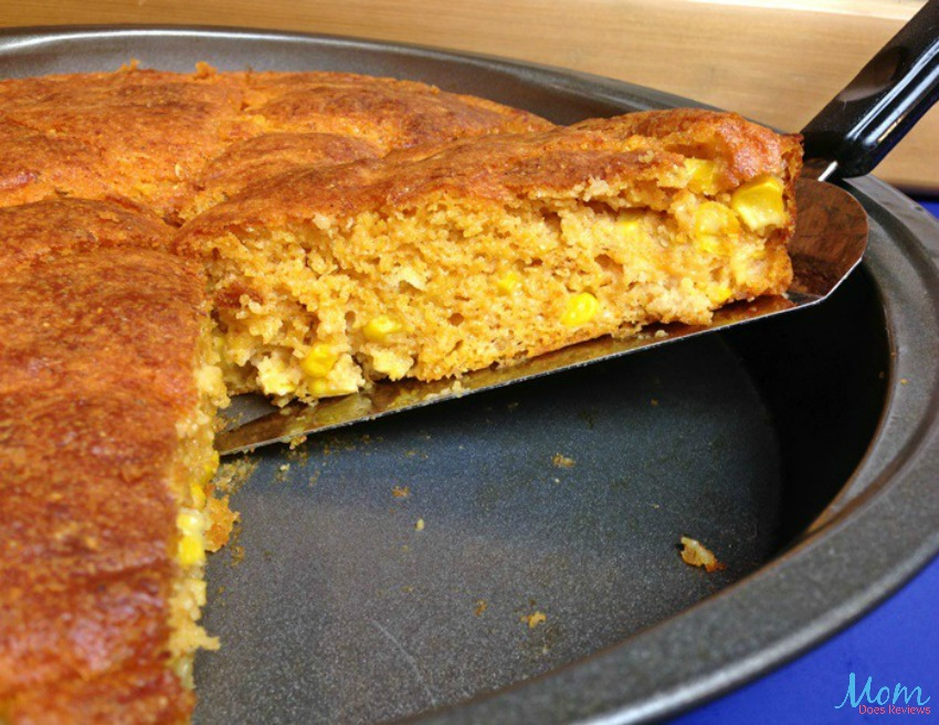 Mexican Cornbread in pan
