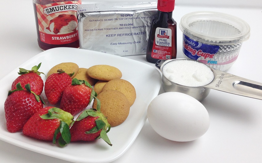 Mini Cheesecake Cups ingredients