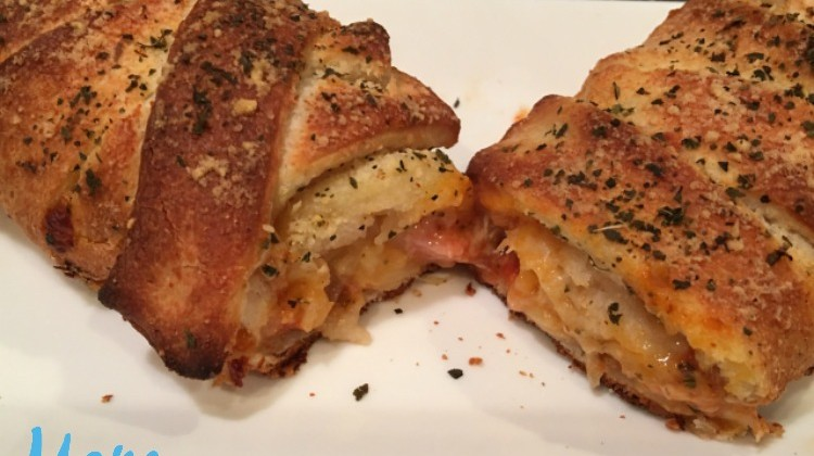 Braided Pizza Pockets is What's for Dinner #recipe