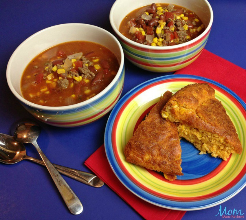 Taco Soup and Mexican Cornbread