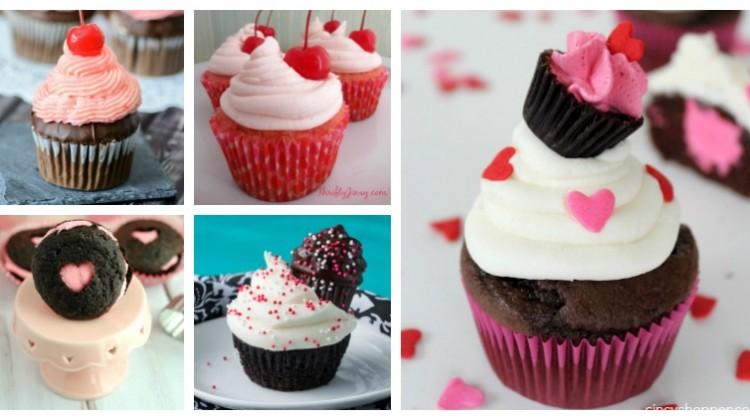 One Dozen Valentine's Day Cupcake #Recipes