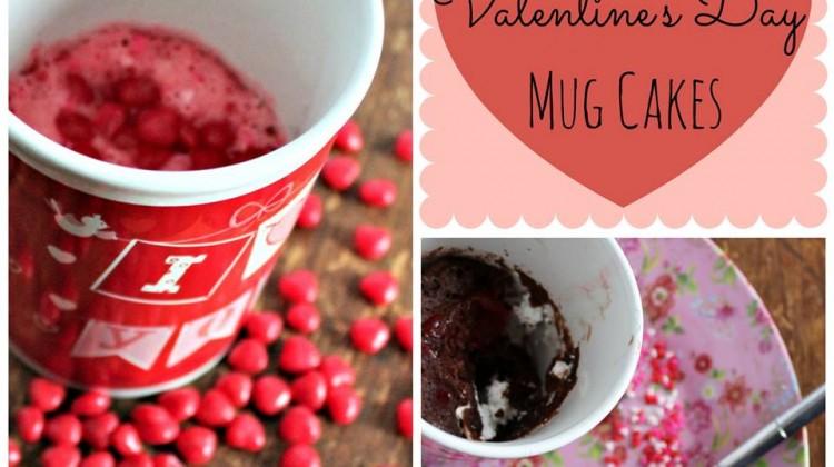 #12Daysof Valentine's Day Recipes {Day 6} Valentine's Day Mug Cakes