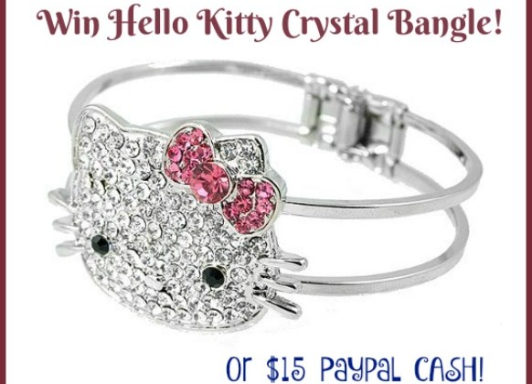 #Win a Hello Kitty Bangle or $15 Paypal Cash! WW ends 1/31