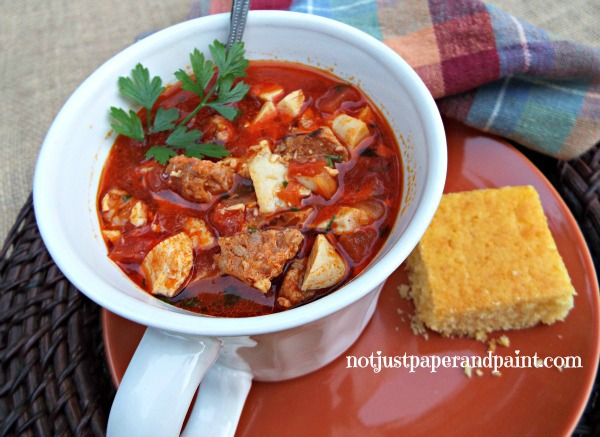 Chicken Chorizo Gumbo by Not Just Paper & Paint