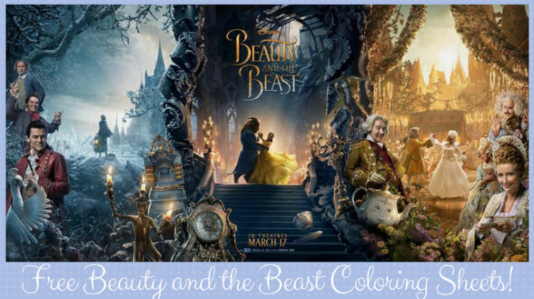 Free Coloring Sheets of Disney's Beauty and The Beast #BeOurGuest #BeautyandtheBeast