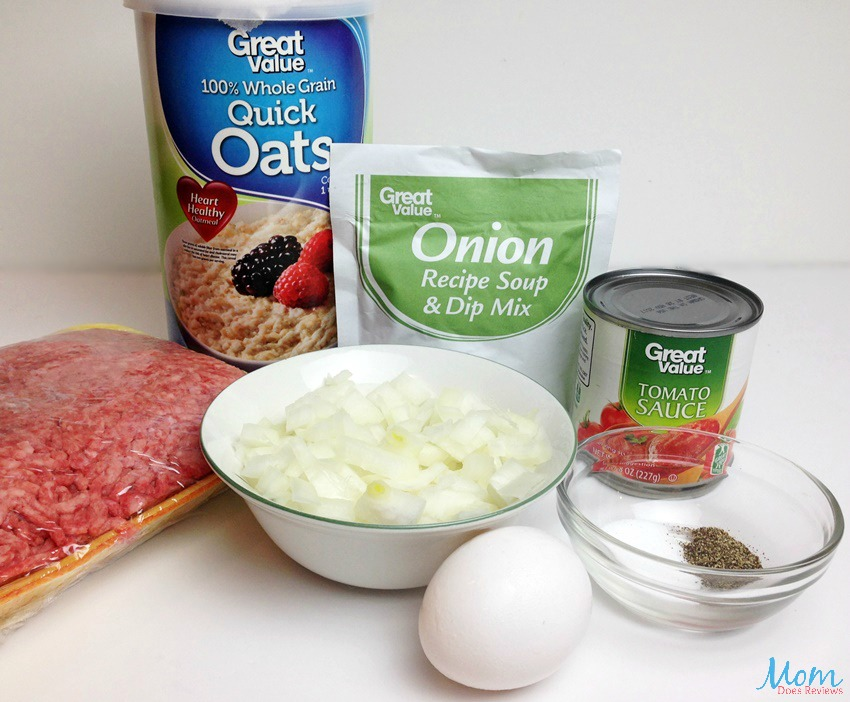 Meatloaf with Oatmeal ingredients