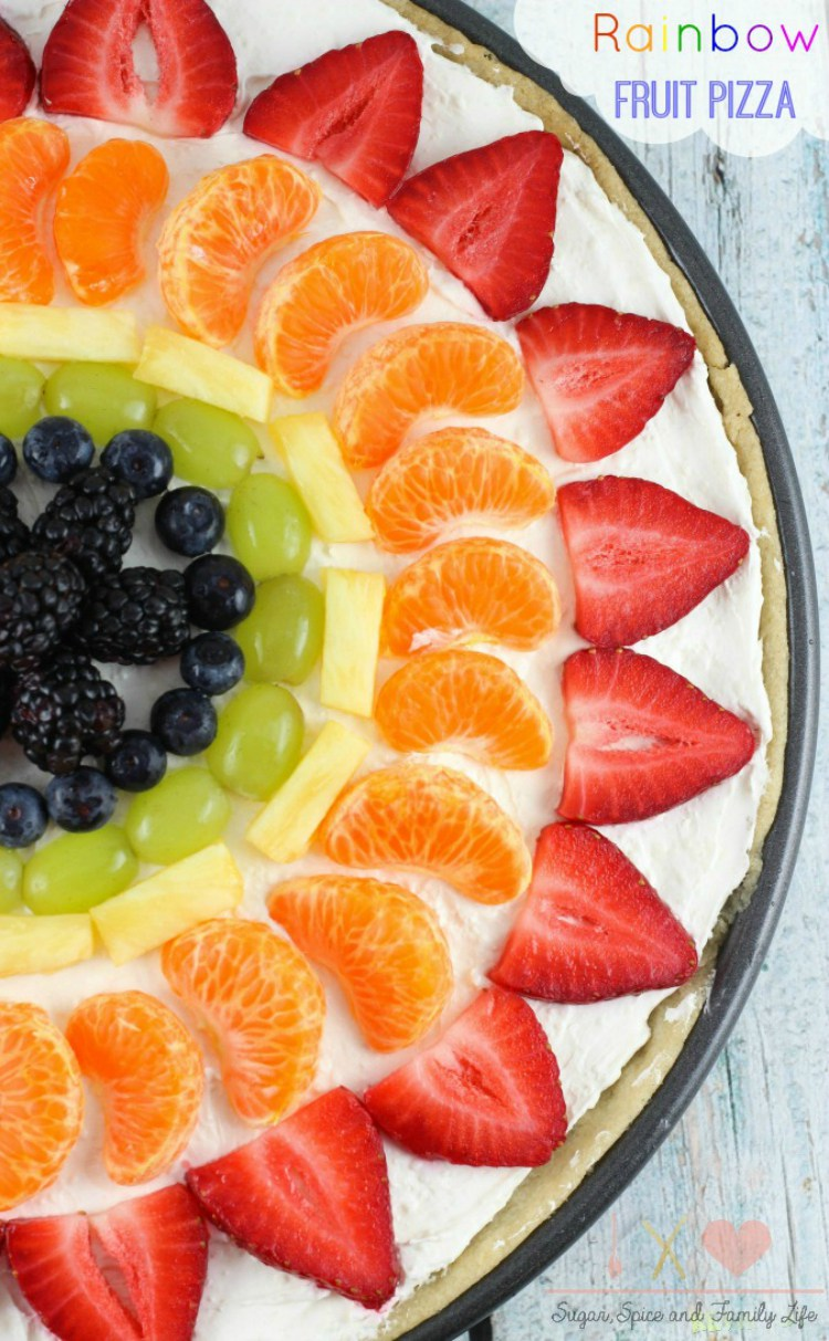 Rainbow Fruit Pizza by Sugar Spice & Family Life