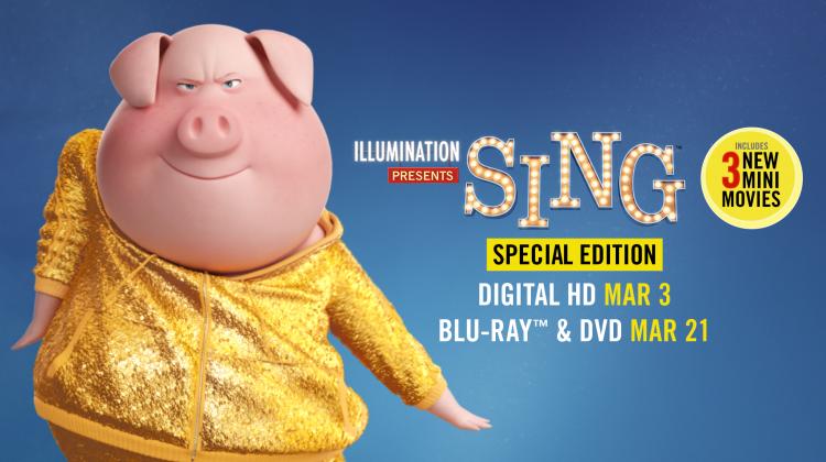 SING Special Edition on Digital HD 3/3 and Blu-Ray 3/21 #SingMovie #SingSquad