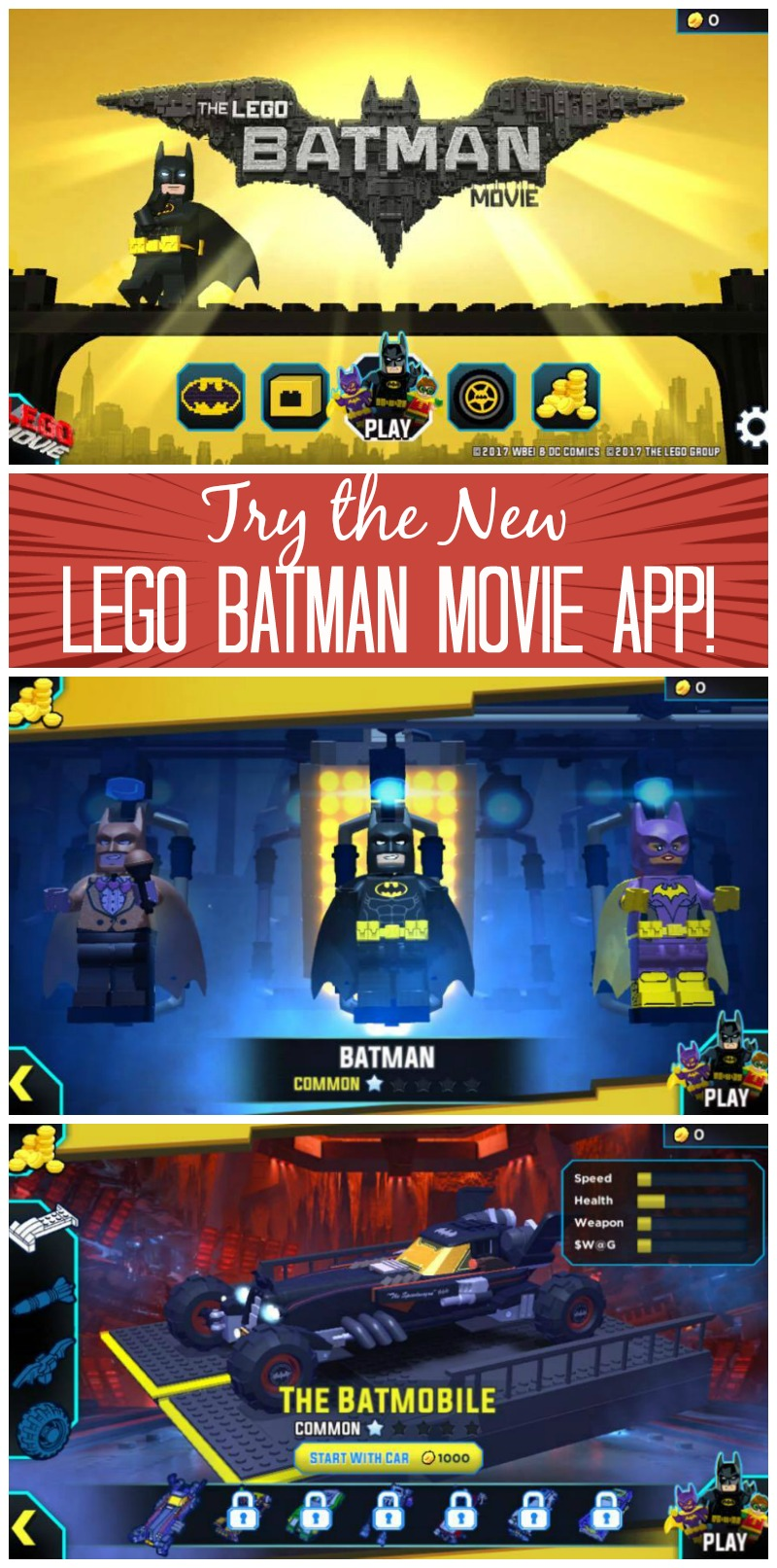The LEGO Batman Movie App Game trailer #LEGOBatmanMovie ...