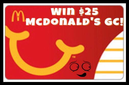 #Win $25 GC to McDonald's US ends 3/7
