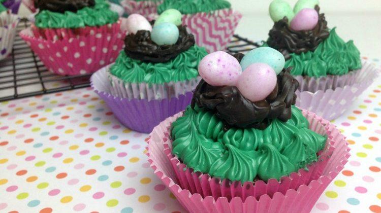 Bird's Nest Cupcakes Recipe and Tutorial