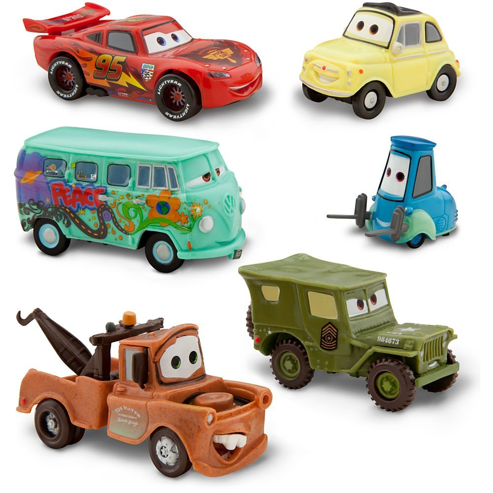 Cars Pitcrew 6 Figure Playset