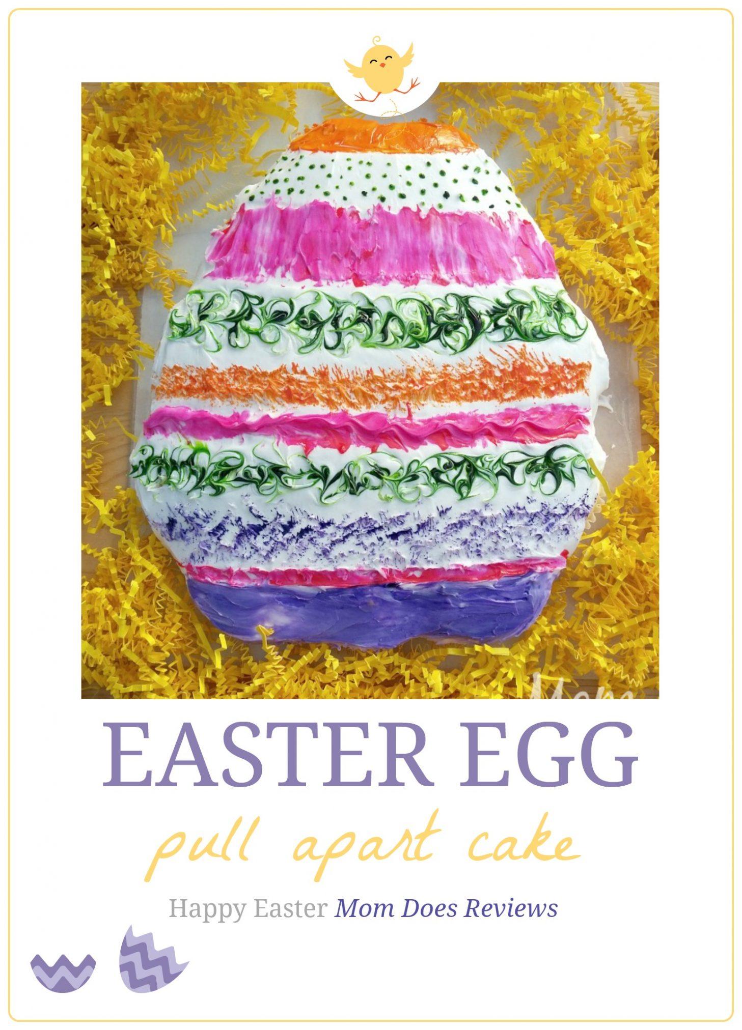 Pull Apart Easter Egg Cake
