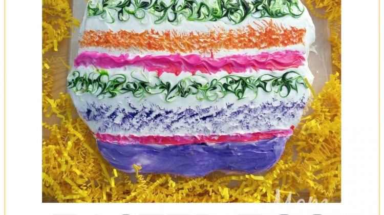 #12daysof Easter Recipes and Crafts {Day 7} Easter Pull Apart Cake Tutorial
