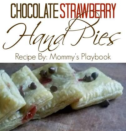 Chocolate Strawberry Hand Pies - perfect for a picnic!