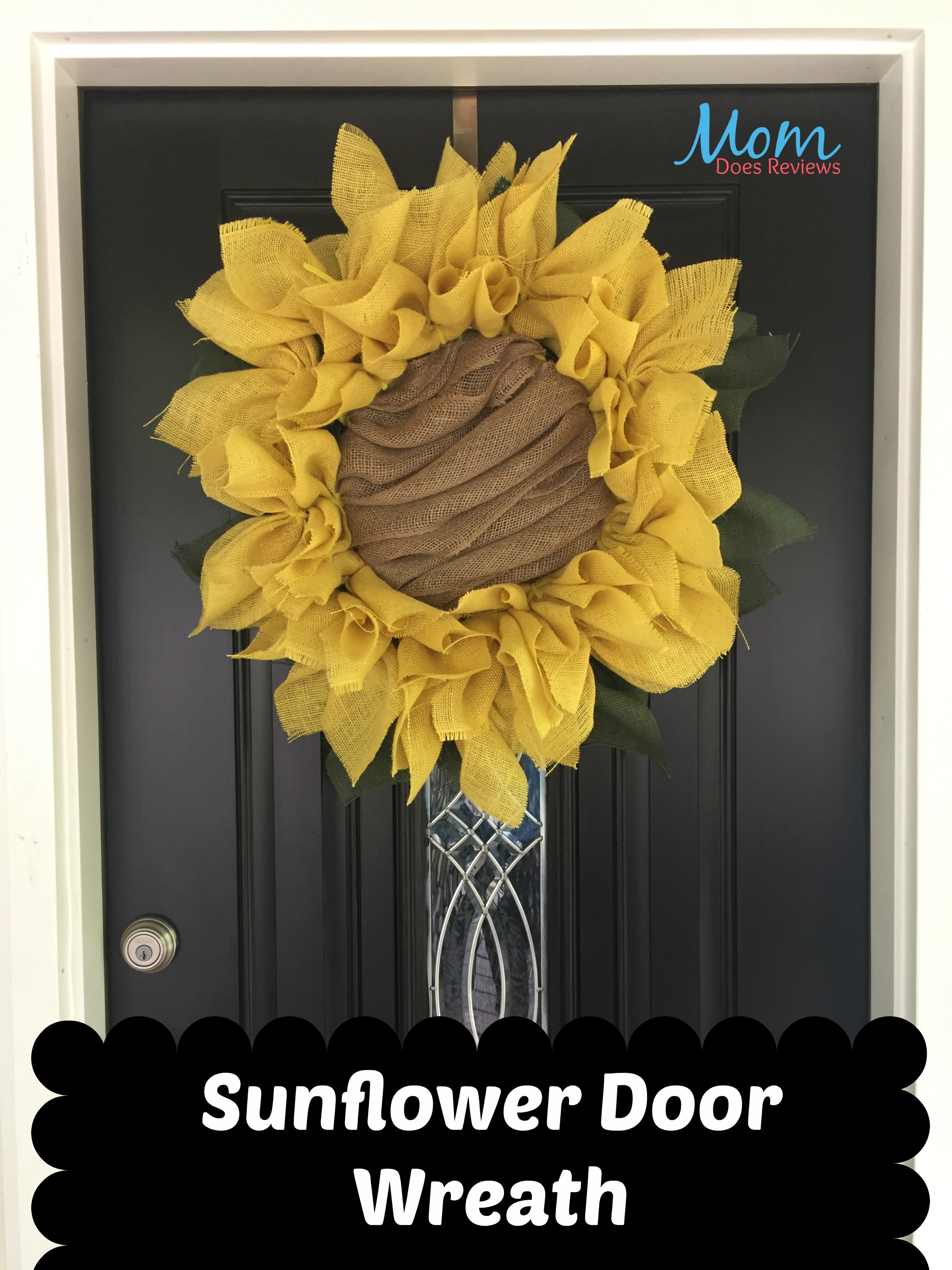 Diy Sunflower Burlap Wreath Craft